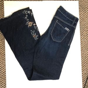Cruel Girl Jeans - Cruel Denim floral embroidered jeans